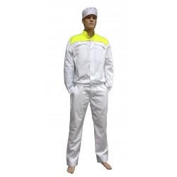 Куртка белая Горизонт HV